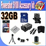 PowerShot S100 Accessory Saver Bundle! (32GB SDHC Memory + Extended Life Battery + Ac/Dc Rapid Charger + USB Card Reader + Memory Card Wallet + Deluxe Camera Case + Accessory Saver Bundle!)!