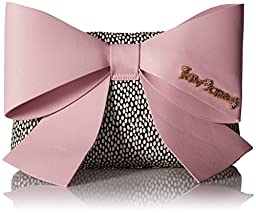 Betsey Johnson Big Bow Chic LG Clutch, Blush, One Size