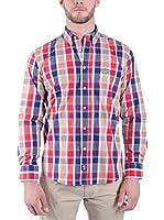 TIME OF BOCHA Camisa Hombre (Azul / Rojo / Beige)