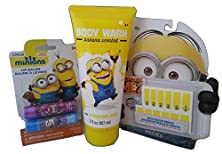 buy Despicable Me Minions 3 Piece Set Of Body Wash, Nail Stickers, Lip Balms