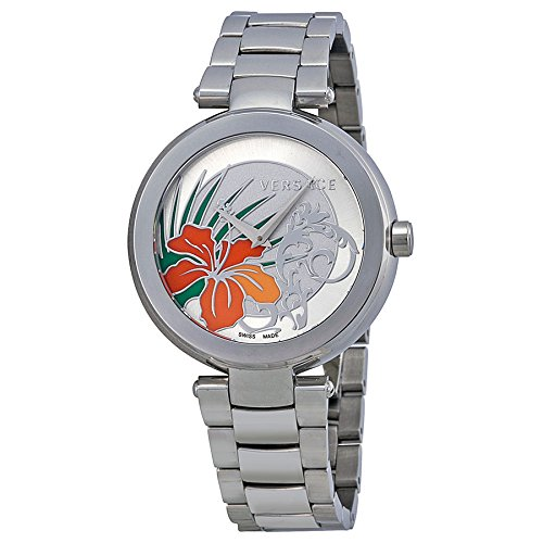 Versace Women's I9Q99D1HI S099 Mystique Stainless Steel White Silver Sunray Dial Watch