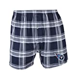 NFL Tennessee Titans Men's Millennium Boxer, Navy/Gray, Large at Amazon.com