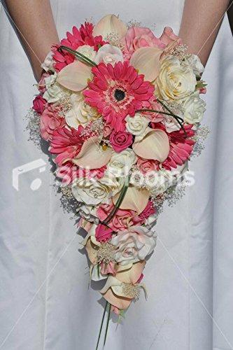 hot-gerbera-rose-et-peche-calla-lily-bouquet-de-mariee-en-forme