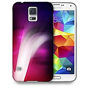 Snoogg Abstract Purple Smoke Printed Protective Phone Back Case Cover For Samsung S5 / S IIIII