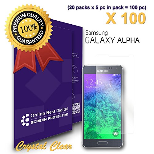 OBiDi - Samsung Galaxy ALPHA Screen Protector, Transparent / HD Clear - OBD Retail Packaging (Pack of 100) promo code 2016