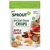 Sprout Organic Ancient Grain Crisps Toddler Snack, Apple Cinnamon, 1.5 Ounce