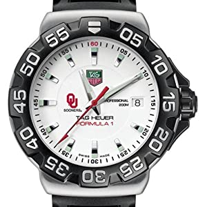 University of Oklahoma TAG Heuer Watch - Mens Formula 1 Watch with Rubber Strap by TAG Heuer