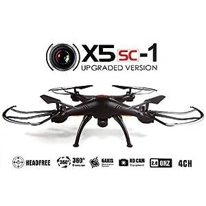 Syma X5SC Verbesserter Neu Version Syma X5SC-1 Falcon Drone HD 2.0MP Kamera 4-kanal 2.4G Fernbedienung Quadcopter 6 Achse 3D Klapp Fly UFO 360 Grad Eversion Mit 4GB SD Karte