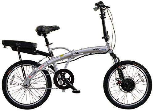 Prodecotech V3.5 Mariner 36V 300W Single Speed 9Ah Li Ion Electric Bicycle, Brushed Aluminum, 20-Inch/One Size