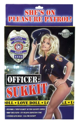 Pipedream Products Officer Sukkit Love Doll, Flesh