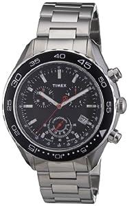 Timex Classic Herren-Armbanduhr XL SL Series Chronograph Edelstahl T2N588