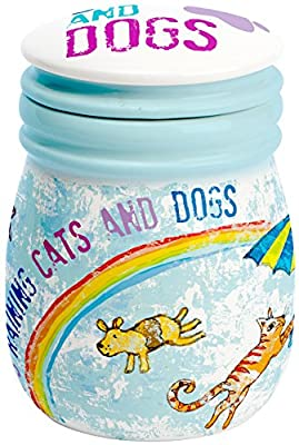 C.R. Gibson Treat Jar, It's Raining Cats and Dogs