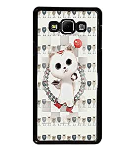 PrintDhaba Kitty D-2604 Back Case Cover for SAMSUNG GALAXY E7 (Multi-Coloured)