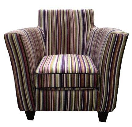 Designer chair in Purple Stripe
