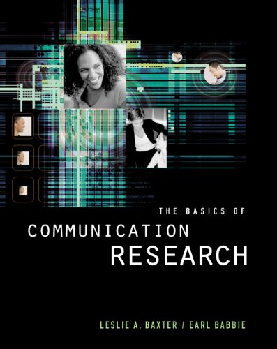 The Basics of Communication Research (with InfoTrac)...