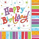 Serviette 33cm Radiant Happy Birthday 16St