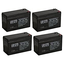 Replacement Batteries for APC RBC 24 UPS  - Set of 4