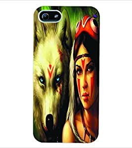 ColourCraft Fantasy Girl Back Case Cover for APPLE IPHONE 5