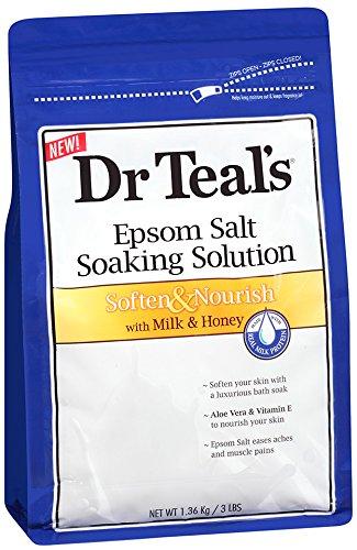 Dr. Teal'S Epsom Salt Soaking Solution, Milk And Honey, 48 Ounce