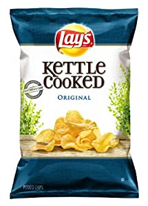 Lay's Kettle Cooked Potato Chips, Original, 8.5 Oz