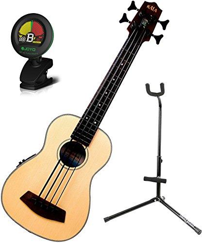 Kala Ubass-Ssmhg-Fl U-Bass Fretless Satin/Solid Spruce Top/Mahogany Ukulele Bass W/ Stand And Tuner