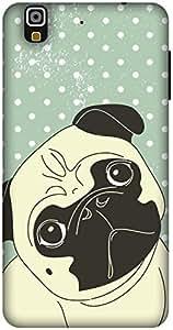 The Racoon Grip Pug Life hard plastic printed back case / cover for Yu Yureka