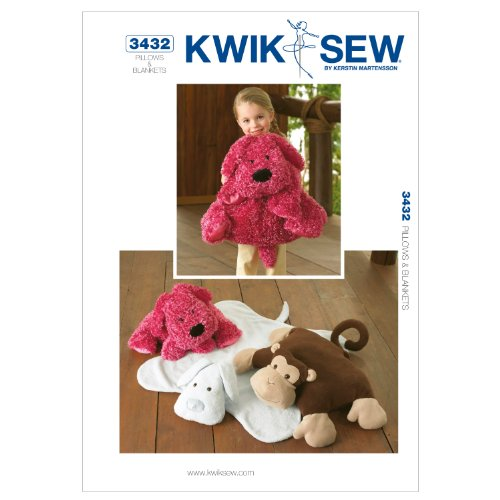 Kwik Sew K3432 Pillows And Blankets Sewing Pattern, No Size