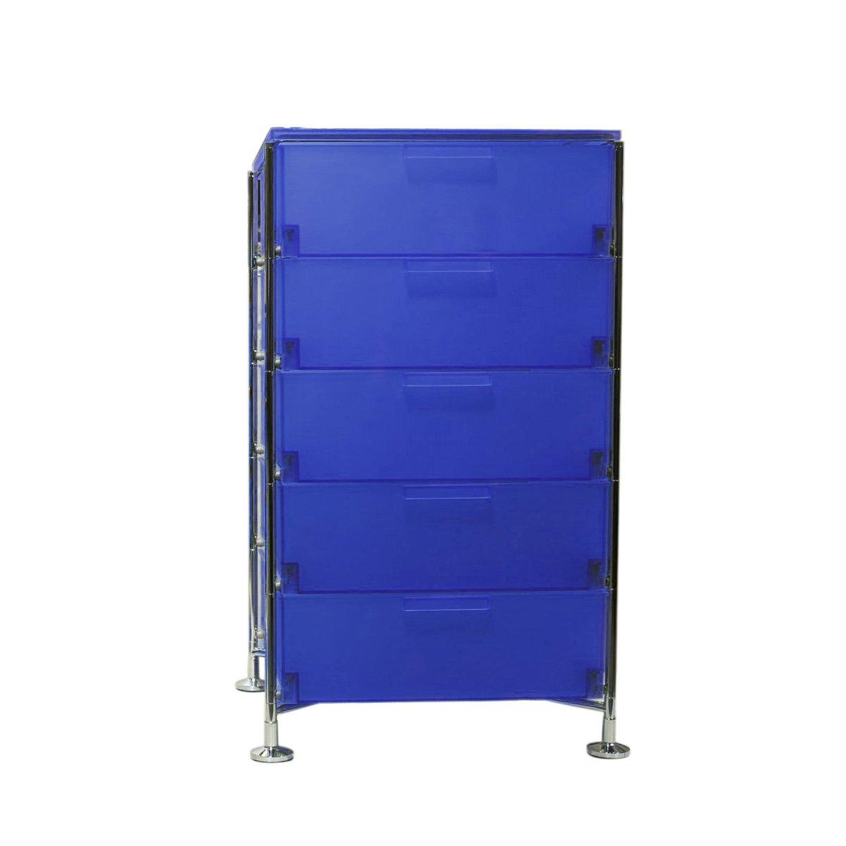 Kartell 2035L7 Container Mobil, 5 Schubladen, blau