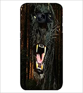 PrintDhaba Jaguar D-4356 Back Case Cover for SAMSUNG GALAXY S7 (Multi-Coloured)