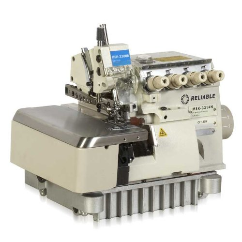 Reliable MSK-3314N-CF7-40H 3/4-Thread Mock-Stitch High-Speed Serging Machine with Semi-Submerged Table and Sewquiet Servomotor