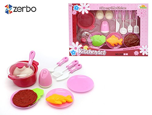 Zerbo children 39 s educational 15 pc mini kitchen toy for Kitchen set for 3 year old