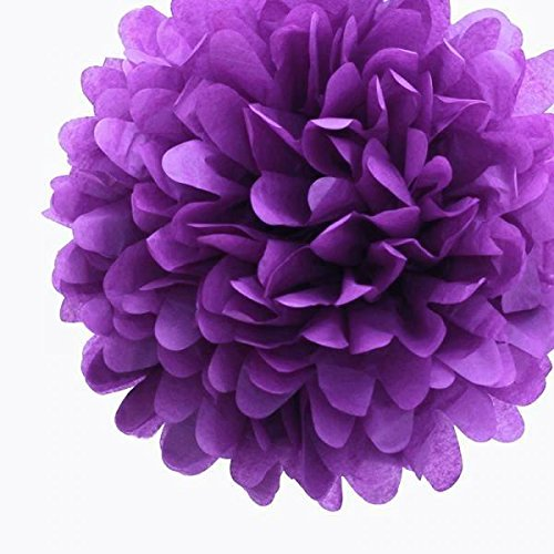 Purple Party Paper Wedding Flowers (10