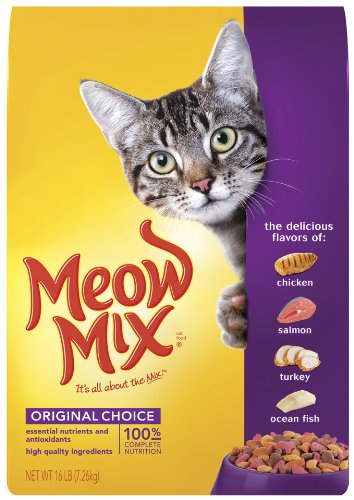 Meow Mix Dry Cat Food, Chicken Turkey Salmon & Oceanfish, 16-Pound Bag