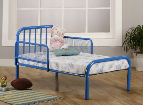 OrderNow Kings Brand Blue Finish Metal Toddler Bed Frame