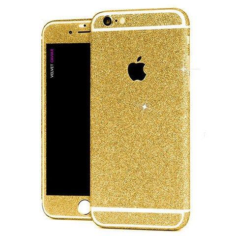 Kapa Full Body Glitter Bling Vinyl Skin Sticker Cover for Apple iPhone 6 6S - Gold