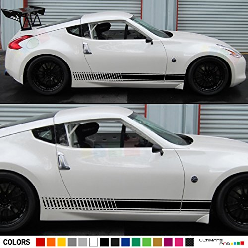 2x Decal Sticker Vinyl Side Racing Stripes Compatible with Nissan 370 Z Fairlady Z Z34 (Nissan 370 Z compare prices)