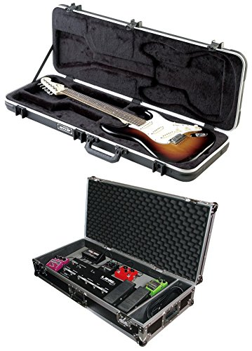 Package: SKB 1SKB-66 Electric Hardshell Guitar Rectangular Case with Injection Molded Feet + Odyssey FZGPEDAL32W 32