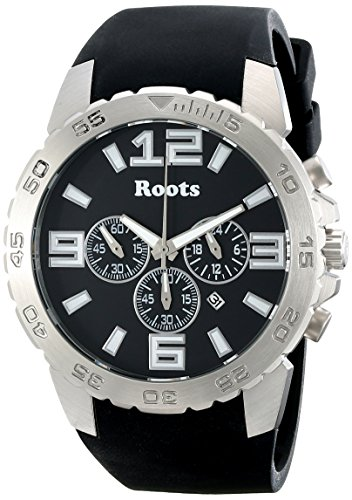 Roots Men's 1R-LF604BA1B Nominigan Analog Display Japanese Quartz Black Watch (Black Watch Of Canada compare prices)