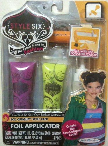 Style Six Foil Effects Fabric Paints, ECO CUTIQUE Style Pack, 14 Pcs - 1