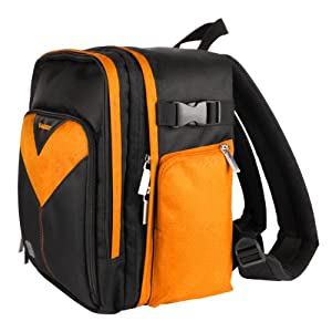 MyVangoddy Fujifilm FinePix HS50 EXR Orange Sparta Collection SLR Camera Backpack available at Amazon for Rs.7793