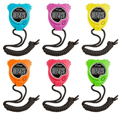 Champion Sports Neon Stopwatch Set of 6 (Champion Digital Watch compare prices)