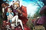 League Of Legends 36x24 inch Plastic Poster Affiche en Plastique - Etanche - Anti-Fade - Pouvez utiliser sur l'extérieur/Jardin/Toilettes - 4PP617F...