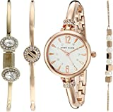 Anne Klein Women's Quartz Metal and Alloy Dress Watch, Color:Rose Gold-Toned (Model: AK/2338RGST)