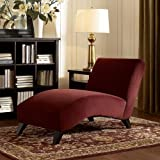 This Lovely Chaise Lounge Chair for Indoors Offers a Sleek Style and Loads of Comfort. Made with Rich Micro Velvet Upholstery and Accented with Espresso Stained Legs This Piece of Living Room or Bedroom Furniture Will Have Your Guests Amazed.