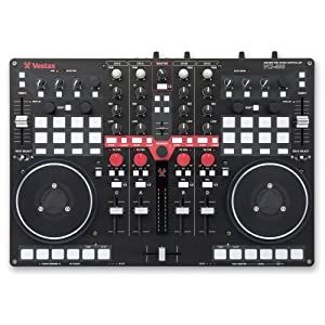 Vestax VCI-400 Professional MIDI and Audio DJ Controller with Built in Mixer