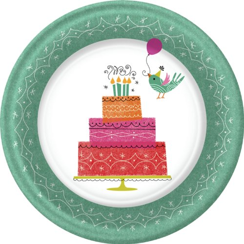 "Birthday Birdies Owl Party 7"" Cake/Dessert Plates"