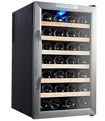 Brand new kalamera 28 bottle stainless steel freestanding for Best wine fridge brands