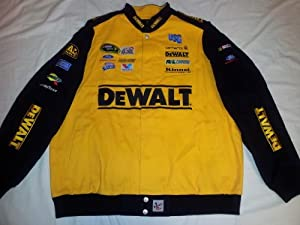 New! Chase Authentics Yellow DeWalt #17 Matt Kenseth Heavyweight Cotton Racing Jacket by Nascar