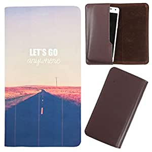 DooDa - For Gionee Pioneer P4S PU Leather Designer Fashionable Fancy Case Cover Pouch With Smooth Inner Velvet