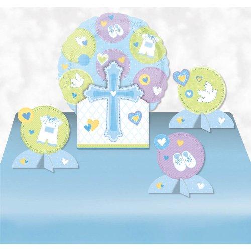 Sweet Christening Blue Balloon Centerpiece- 5pc - 1